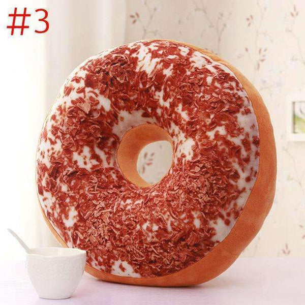 PinKart-USA Online Shopping Navy Blue Cute Donuts Pillow Chocolate Donuts Plush Macaron Food Cushion Nice Bottom Cushion Nap Pillow