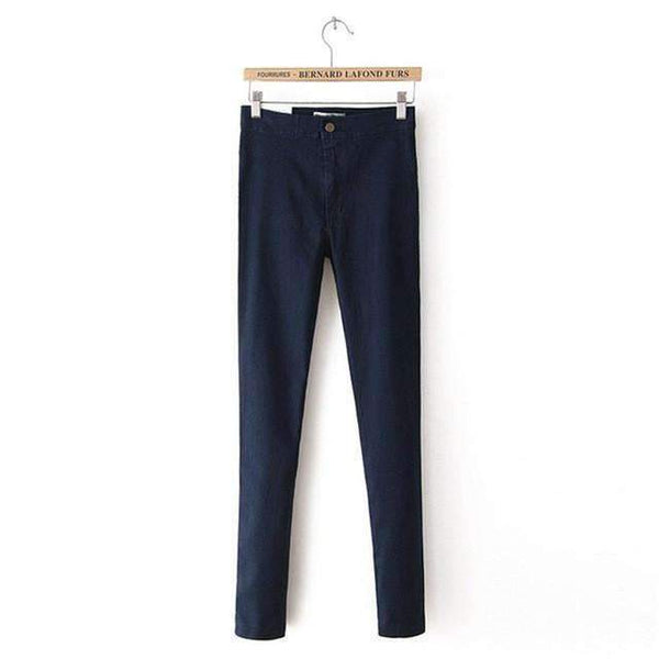 PinKart-USA Online Shopping Navy Blue / XS / China White Jeans Female Elastic Jeans