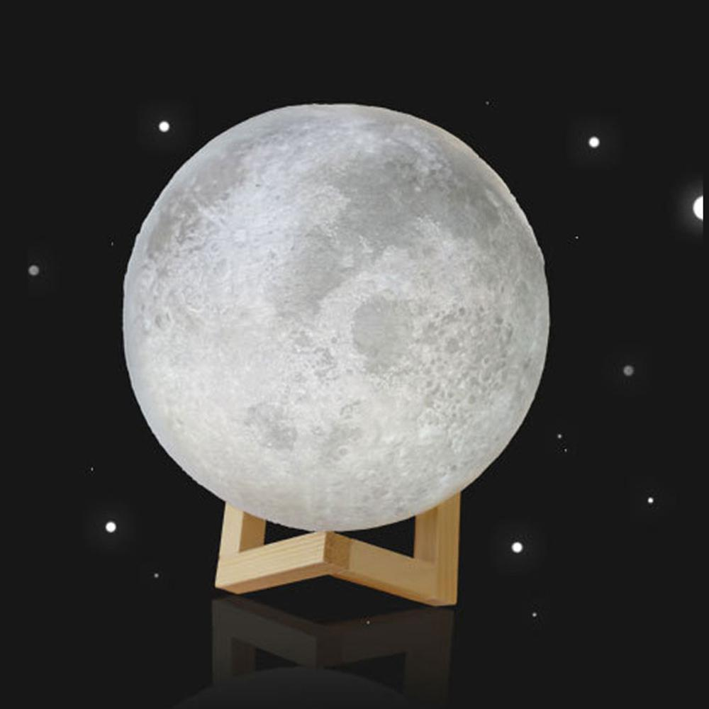 PINkart-USA Online Shopping Night Light Rechargeable 3D Print Moon Lamp Home Decorative 3D Printing Materials Art Products 3D