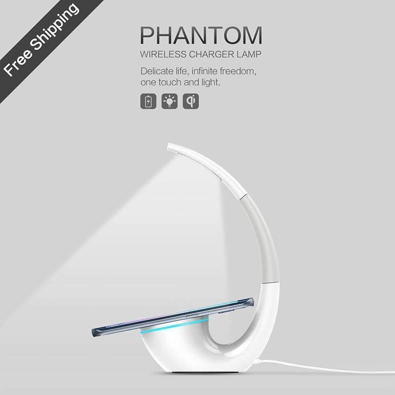 PinKart-USA Online Shopping Nillkin Qi Intelligent Wireless Charger Charging Mat Energy Saving Phantom Wireless Charger Lamp Fo