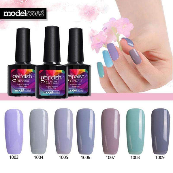 PinKart-USA Online Shopping Nude Color Uv Nail Gel Lacquer Nail Art French Salon Uv Gel Nail Polish Soak Off Semi