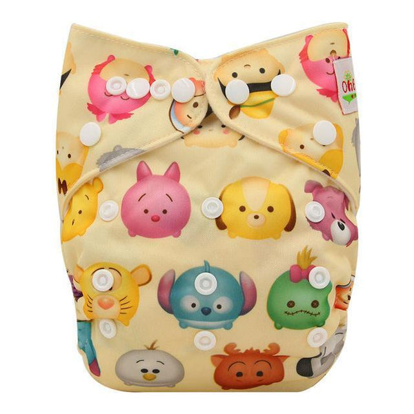 PinKart-USA Online Shopping OB120 Ohbabyka Baby Cloth Diaper Adjustable Diaper Covers Washable Reusable Baby Nappies Couche