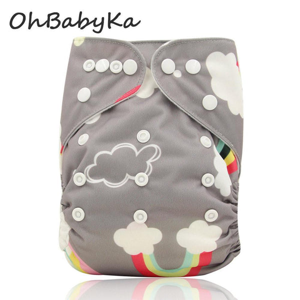 PinKart-USA Online Shopping Ohbabyka Baby Cloth Diaper Adjustable Diaper Covers Washable Reusable Baby Nappies Couche
