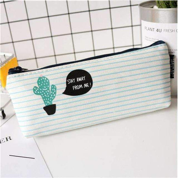PinKart-USA Online Shopping one Cactus Pencil Case Canvas School Supplies Kawaii Stationery Estuches Chancery School Cute Kalem