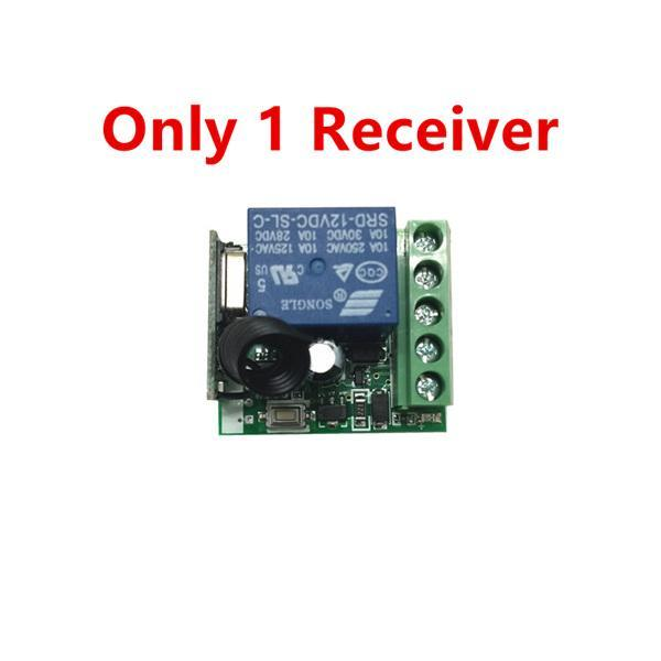 PINkart-USA Online Shopping Only 1 receiver 433 Mhz Wireless Remote Control Switch Dc 12V 10A 1Ch Relay 433Mhz Receiver Module For 1527
