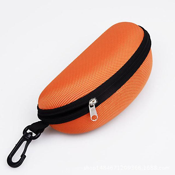 PINkart-USA Online Shopping Orange 11 Colors Fashion Popular Portable Hard Hook Up Zipper Eyeglasses Eyewear Sunglasses Case Protector
