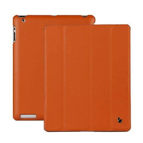 PinKart-USA Online Shopping Orange Jisoncase Brand Case For Ipad 2 3 4 Leather Case Pu Protective Smart Cover Case For Ipad 2 3 4