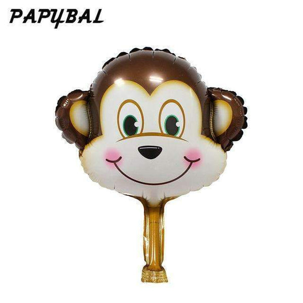 PinKart-USA Online Shopping Orange / Mnini Size 50Pcs Safari Animal Balloons Birthday Party Decoration Lion & Monkey & Zebra & Cow Head Safari Zoo