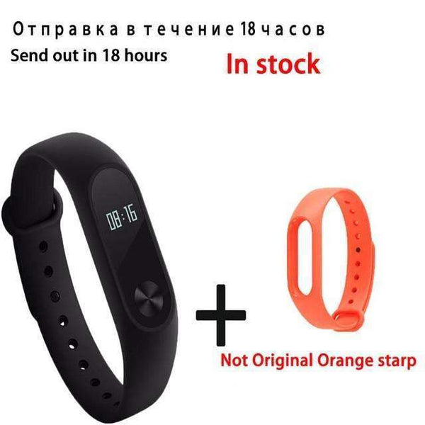PinKart-USA Online Shopping Orange Original Xiaomi Mi Band 2 Smart Bracelet Wristband Tracker Fitness Mi Band Oled Touchpad Sleep