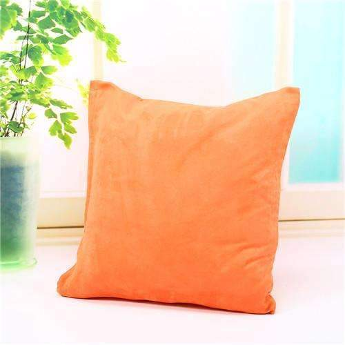 PinKart-USA Online Shopping orange Pillow Case Solid Suede Nap Cushion Decorative Pillowcase Valentine'S Day Gift Body Pillow Cases