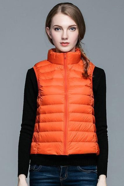 PINkart-USA Online Shopping Orange / S Winter Women 90% White Duck Down V Women'S Ultra Light Duck Down V Jacket Autumn Winter