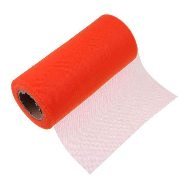 PinKart-USA Online Shopping Orange Tissue Tulle Roll 15Cm 26Yards Spool Tutu Gift Wrap Wedding Decoration Birthday Party Baby Shower
