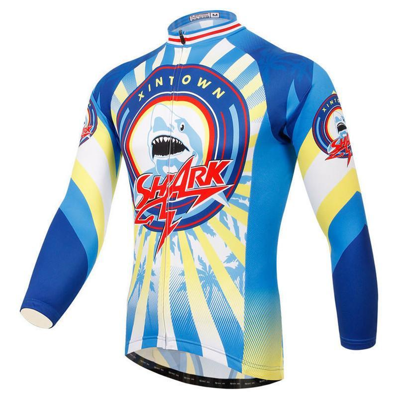 PINkart-USA Online Shopping Outdoor Cycling Jersey Long Sleeve Winter Cycling Clothing Sport Mountain Bike Jersey Bicycle