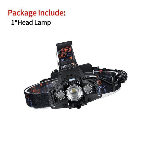 PinKart-USA Online Shopping Package A / XML-T6 Rechargeable Led Head Lamp Lights Headlamp Forehead Flashlight Head Light Led Lintern Touch