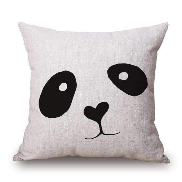 PinKart-USA Online Shopping Panda / 45x45cm Romantic Modern Simple Beige Love Star Pattern Pillow Case Deer And Panda Chair Square Throw