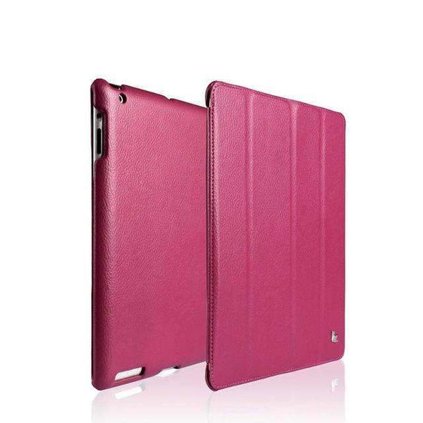 PinKart-USA Online Shopping Peach Red / China Jisoncase Smart Case For Ipad 4 3 2 Cover Stand Tablet Designer Ultra Thin Leather Covers & Cases