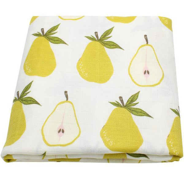 PINkart-USA Online Shopping Pear Super Soft Blanket For Children Cotton Bamboo Muslin Swaddle For Newborns Baby Wrap Breathable Car