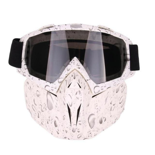 PINkart-USA Online Shopping Pearl White Men Women Windproof Snowboard Goggles Ski Glasses Motocross Glass Skiing Goggles Face Mask
