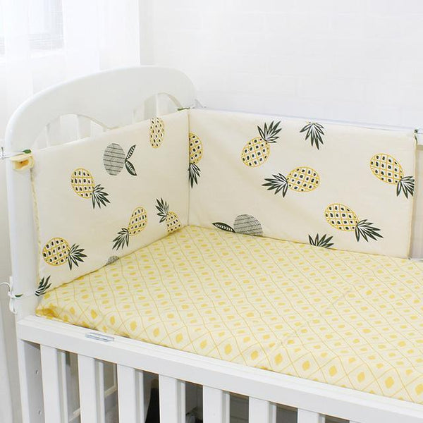 PINkart-USA Online Shopping Pineapple 1Pcs Baby Bed Bumper Soft Breathable Cartoon Pattern Baby Crib Protector For Children Croth To The Cot