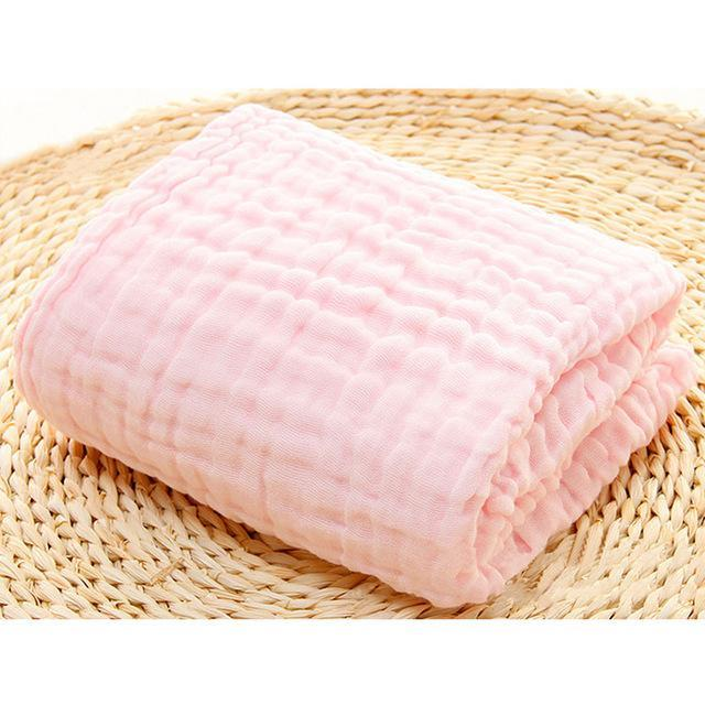 PinKart-USA Online Shopping pink / 110x110cm / China 1Pcs Baby Bath Towel 100% Cotton Six Layers Gauze Super Soft Absorbent Baby Neonatal Receiving