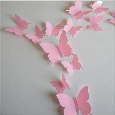PinKart-USA Online Shopping Pink 12 Pcs/Lot Pvc Butterfly Decals 3D Wall Stickers Home Decor Poster For Kids Rooms Adhesive To Wall
