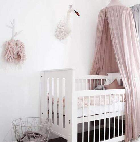 PinKart-USA Online Shopping pink / 240cm 240Cm Baby Mosquito Net Photography Props Baby Room Decoration Home Bed Canopy Curtain Round Crib