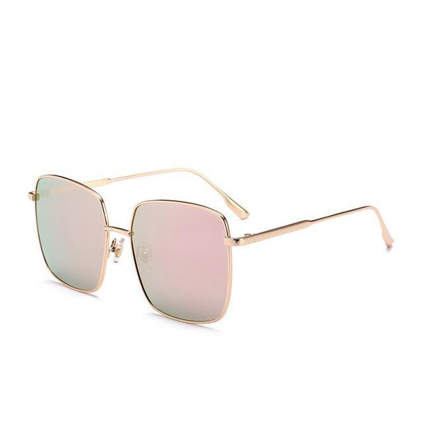 PINkart-USA Online Shopping Pink Brand Designer Celebrity Metal Men Oversized Sunglasses Fashion Luxury Square Sunglasses Women