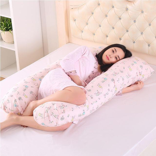 PINkart-USA Online Shopping Pink Rabbit 130*70Cm Body Pillows Sleeping Pregnancy Pillow Belly Contoured Maternity U Shaped Removable Cover