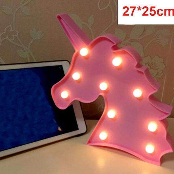 PinKart-USA Online Shopping pink unicorn Tronzo Flamingo Led Light Christmas Wedding Decoration For Home Marquee Unicorn Head Pineaapple