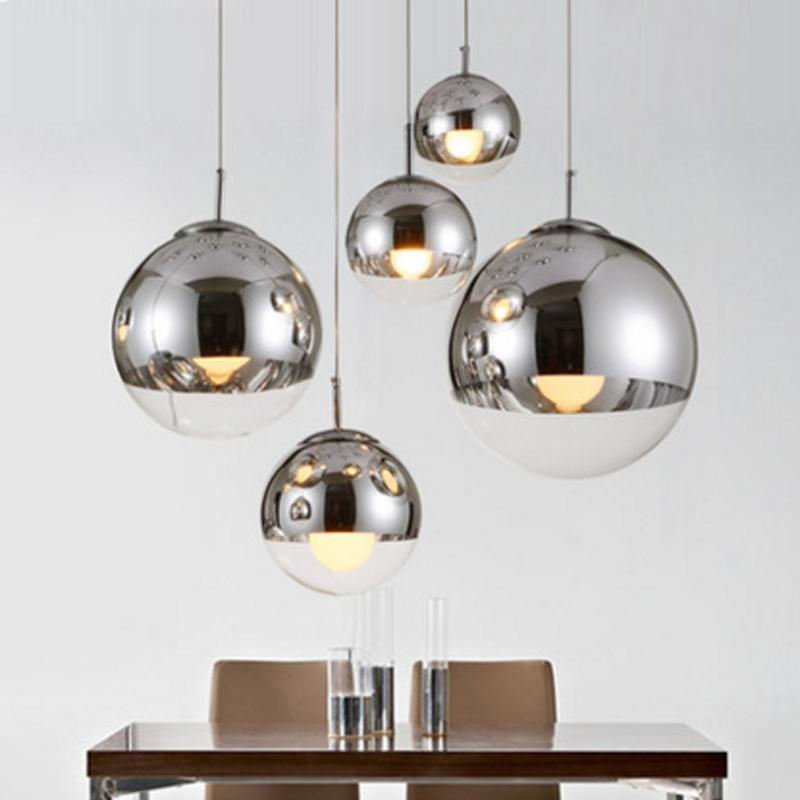 PINkart-USA Online Shopping Plated Glass Ball Pendant Lamp Modern Single Pendant Lamps Energy Saving Lamp Mirror Glass Hanging