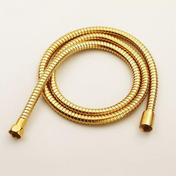 PINkart-USA Online Shopping Plumbing Hoses Stainless Steel Gold 150Cm Tube Shower Hose Flexible Shower Head Replacement Part