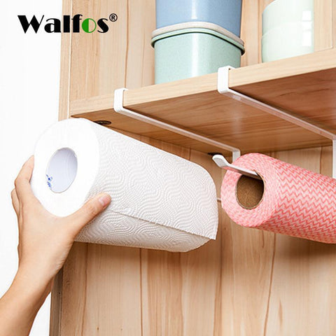 PinKart-USA Online Shopping Practical Kitchen Toilet Paper Towel Rack Paper Towel Roll Holder Cabinet Hanging Shelf Organizer