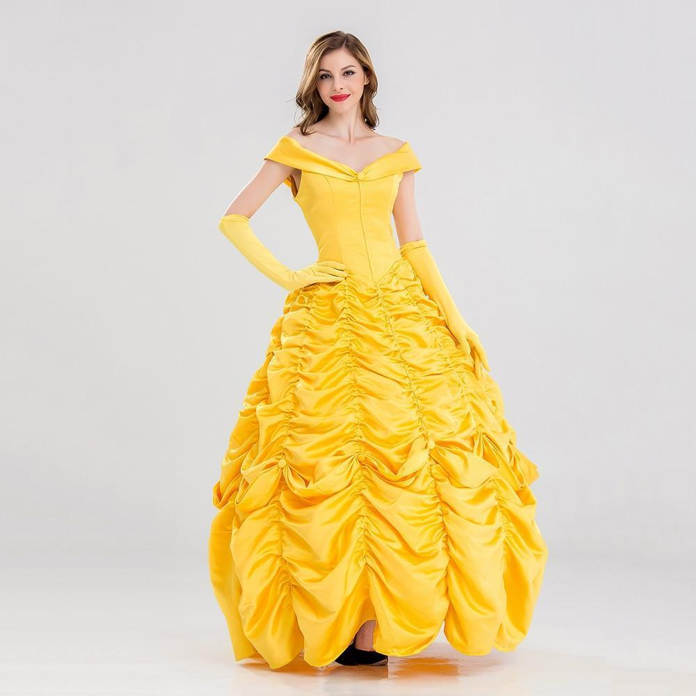 PINkart-USA Online Shopping Princess Belle Dress Beauty And The Beast  Costume db2d2ae655b8