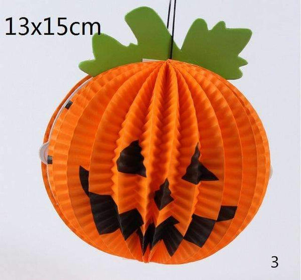 PinKart-USA Online Shopping Pumpkin 1 Pc Tissue Paper Lantern Ball Hanging Ghost Props Festival For Kids Babyshower Halloween Decoratio