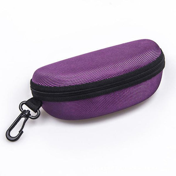 PINkart-USA Online Shopping Purple 11 Colors Fashion Popular Portable Hard Hook Up Zipper Eyeglasses Eyewear Sunglasses Case Protector