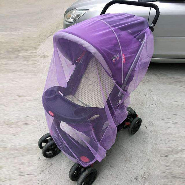PinKart-USA Online Shopping Purple Baby Stroller Pushchair Mosquito Insect Shield Net Safe Infants Protection Mesh Stroller Accessorie
