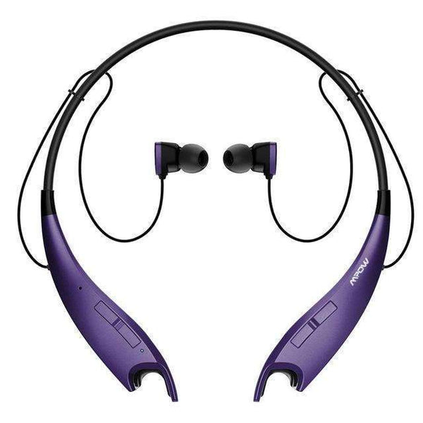 PinKart-USA Online Shopping Purple / China Original Jaws Wireless Bluetooth 4.1 Headphone Headset Crystal Sound Light Necklace Handsfree