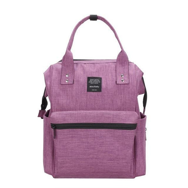PINkart-USA Online Shopping Purple Large Capacity Mummy Bag Baby Care Diaper Multifunctional Maternal Brand Nappy Bags Backpack