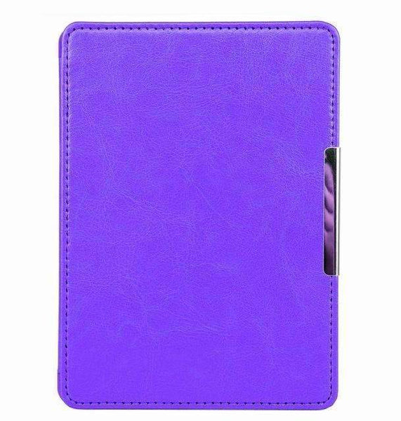 PinKart-USA Online Shopping purple Magnet Clasp Flip Leather Case Cover For Kindle 8Th Generation Fundas For Amazon Kindle 8
