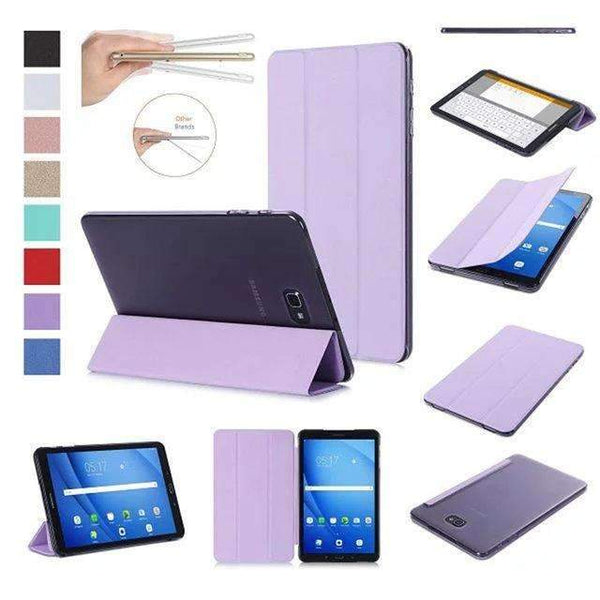 PinKart-USA Online Shopping Purple Original Case For Samsung Galaxy Tab A A6 10.1 T585 T580 Sm-T580 T580N Smart Case Cover Pu