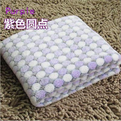 PINkart-USA Online Shopping Purple / S Soft Flannel Pet Dog Blanket Dots Printed Breathable Dog Cat Bed Mat Warm Pet Sleeping Cushion
