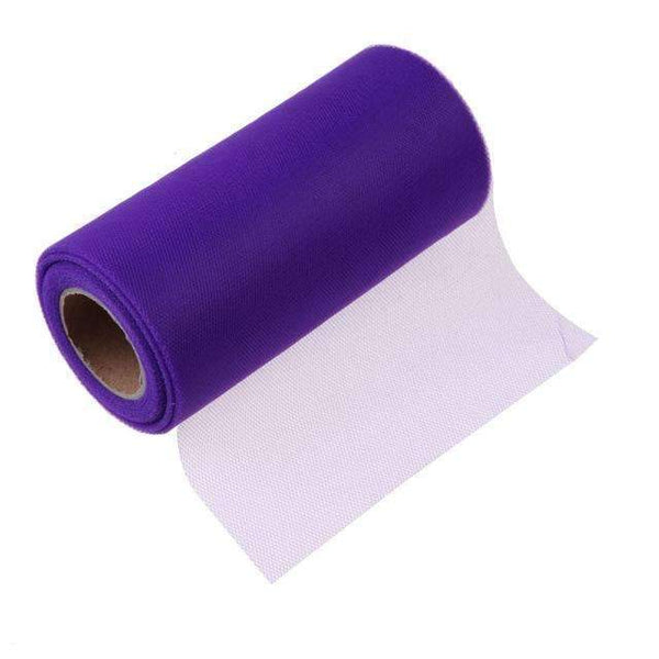 PinKart-USA Online Shopping Purple Tissue Tulle Roll 15Cm 26Yards Spool Tutu Gift Wrap Wedding Decoration Birthday Party Baby Shower