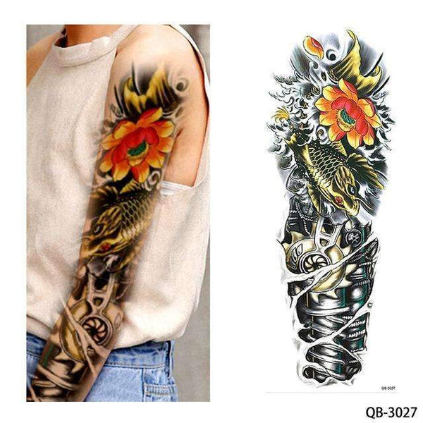 PinKart-USA Online Shopping QB 3027 1 Piece Temporary Tattoo Sticker Nun Girl Pray Design Full Flower Arm Body Art Beckham Big Large