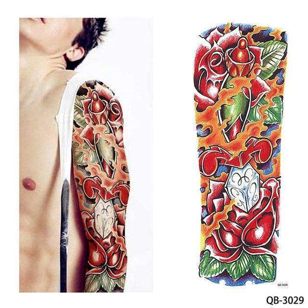 PinKart-USA Online Shopping QB 3029 1 Piece Temporary Tattoo Sticker Nun Girl Pray Design Full Flower Arm Body Art Beckham Big Large