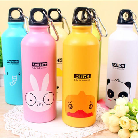 PINkart-USA Online Shopping Quality Lovely Animal Outdoor Water Bottles Portable Sports Cycling Camping Aluminum Alloy Kids