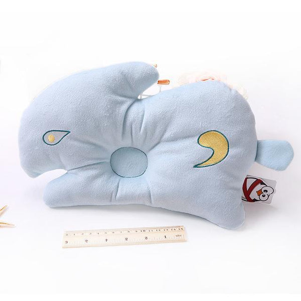 PINkart-USA Online Shopping rabbit blue 1 1Pcs Soft Baby Infant Bedding Rabbit Print Oval Shape Baby Shaping Pillow Travel Support Prevent
