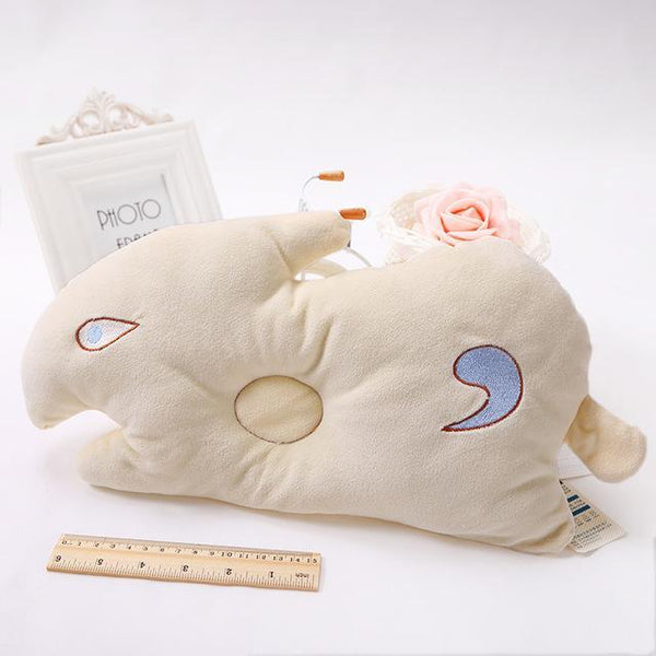 PINkart-USA Online Shopping rabbit yellow 1 1Pcs Soft Baby Infant Bedding Rabbit Print Oval Shape Baby Shaping Pillow Travel Support Prevent