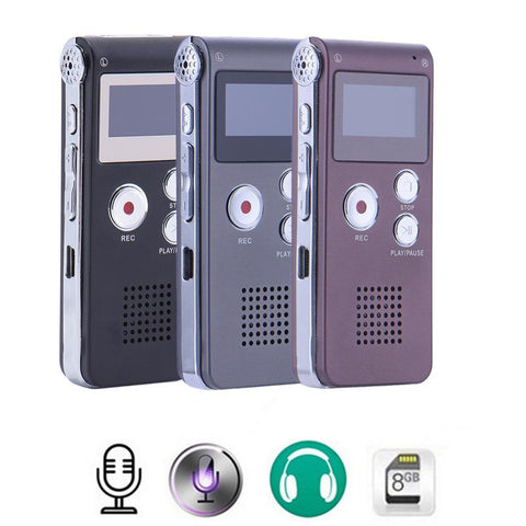 PINkart-USA Online Shopping Rechargeable 8Gb 650Hr Digital Audio/Sound/Voice Recorder Dictaphone Mp3 Player High Quality Mini