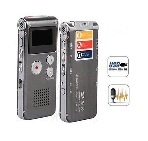 PINkart-USA Online Shopping Rechargeable External Mic 4Gb Voice Activated Usb Digital Audio Voice Recorder Dictaphone Mp3
