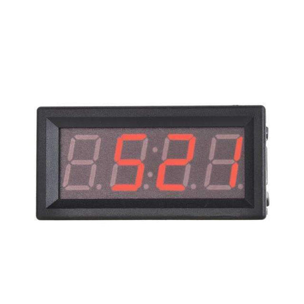 PinKart-USA Online Shopping Red 0.56 Digital 5~60V Voltmeter Temperature Clock Meter Inside / Outside Temperature Double Sensors
